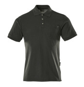 00783-260-09 Polo Shirt with chest pocket - black