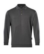 00785-280-18 Polo Sweatshirt - dark anthracite