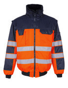 00920-660-141 Pilot Jacket - hi-vis orange/navy