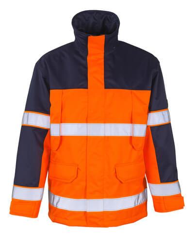 00930-880-171 Parka Jacket - hi-vis yellow/navy