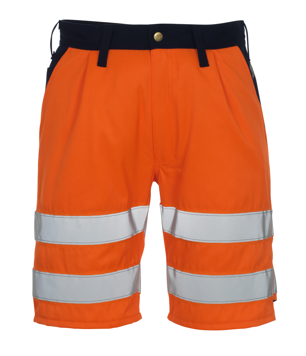 00949-860-141 Shorts - hi-vis orange/navy