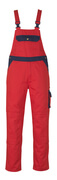00969-430-21 Bib & Brace with kneepad pockets - red/navy