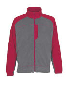 06042-137-88802 Fleece Jacket - anthracite/red