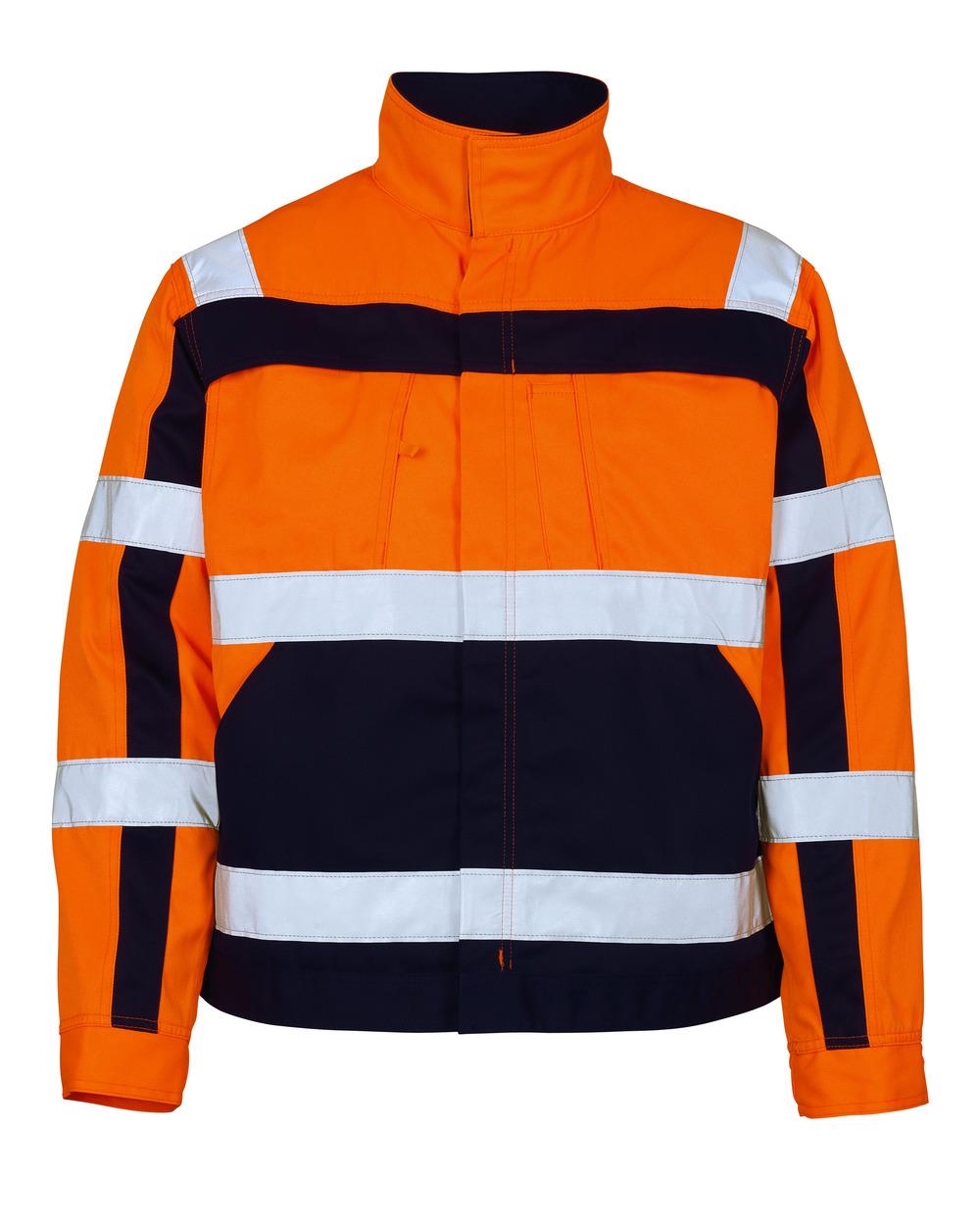 07109-860-141 Jacket - hi-vis orange/navy