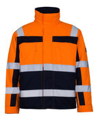 07123-126-141 Pilot Jacket - hi-vis orange/navy