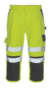 07149-470-17888 ¾ Length Trousers with kneepad pockets - hi-vis yellow/anthracite