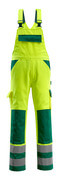 07169-470-1703 Bib & Brace with kneepad pockets - hi-vis yellow/green
