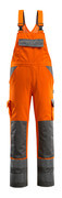 07169-860-14888 Bib & Brace with kneepad pockets - hi-vis orange/anthracite