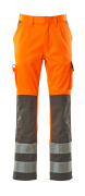 07179-860-14888 Trousers with kneepad pockets - hi-vis orange/anthracite