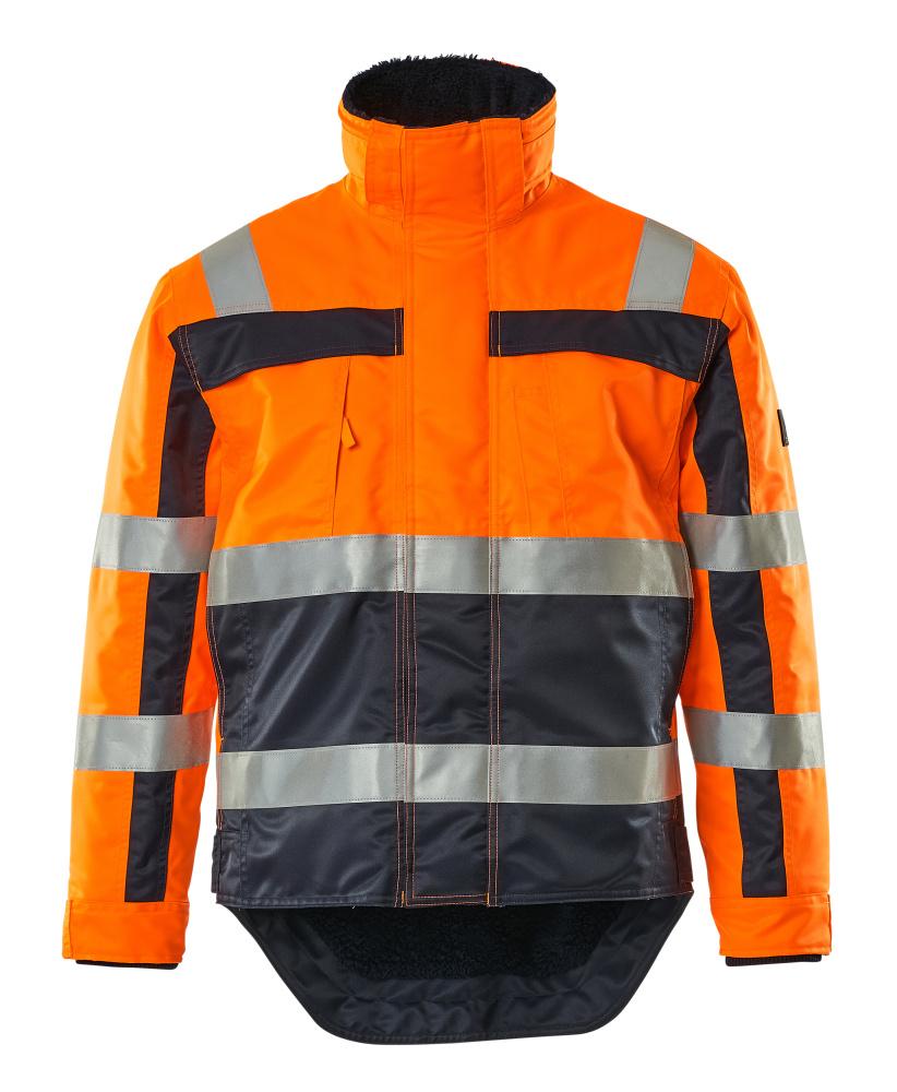 07223-880-141 Winter Jacket - hi-vis orange/navy