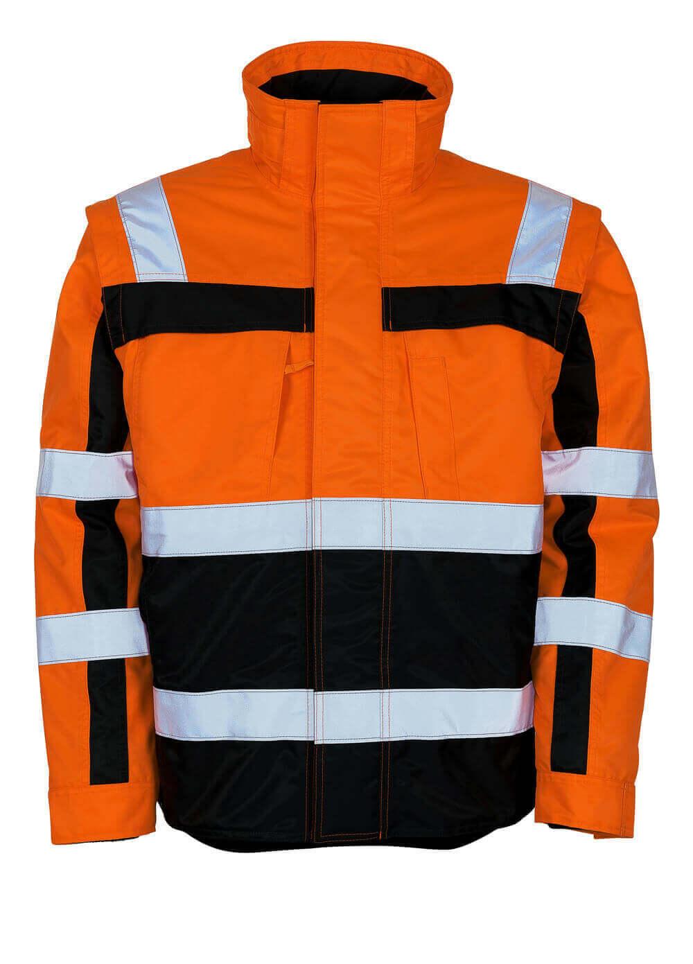 09335-880-141 Winter Jacket - hi-vis orange/navy