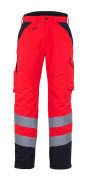 11090-025-A49 Winter Trousers - hi-vis red/dark anthracite