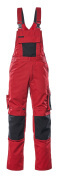 12169-442-0209 Bib & Brace with kneepad pockets - red/black