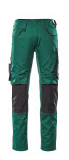 13079-230-0309 Trousers with kneepad pockets - green/black