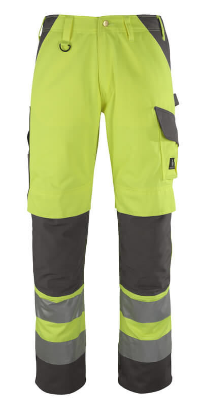 13479-470-17888 Trousers with kneepad pockets - hi-vis yellow/anthracite