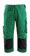 14149-442-0309 ¾ Length Trousers with kneepad pockets - green/black