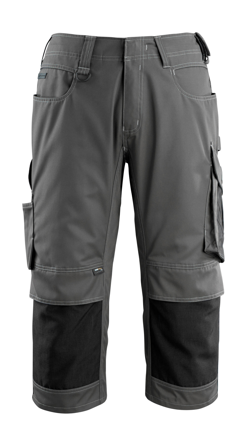 14149-442-1809 ¾ Length Trousers with kneepad pockets - dark anthracite/black