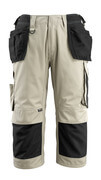 14349-442-5509 ¾ Length Trousers with holster pockets - light khaki/black