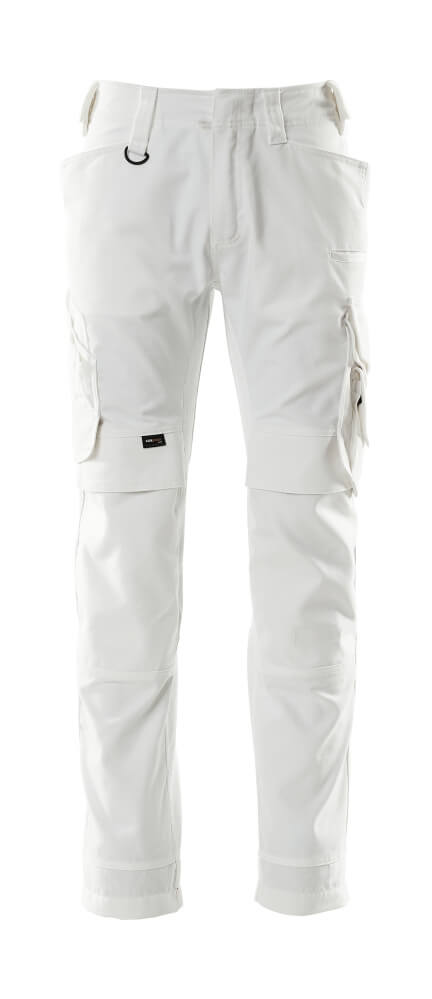 15079-010-06 Trousers with kneepad pockets - white