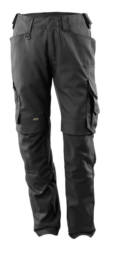 15079-010-09 Trousers with kneepad pockets - black