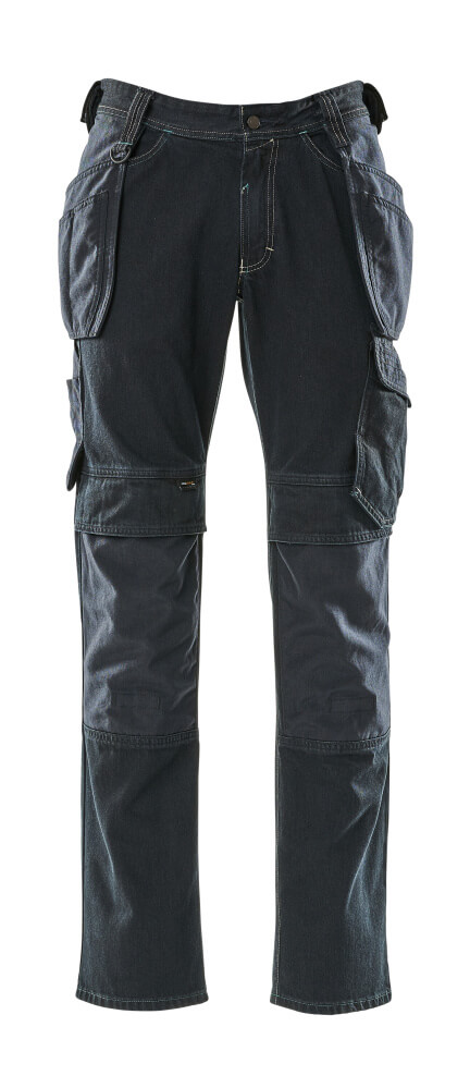 15131-207-86 Jeans with holster pockets - dark blue denim
