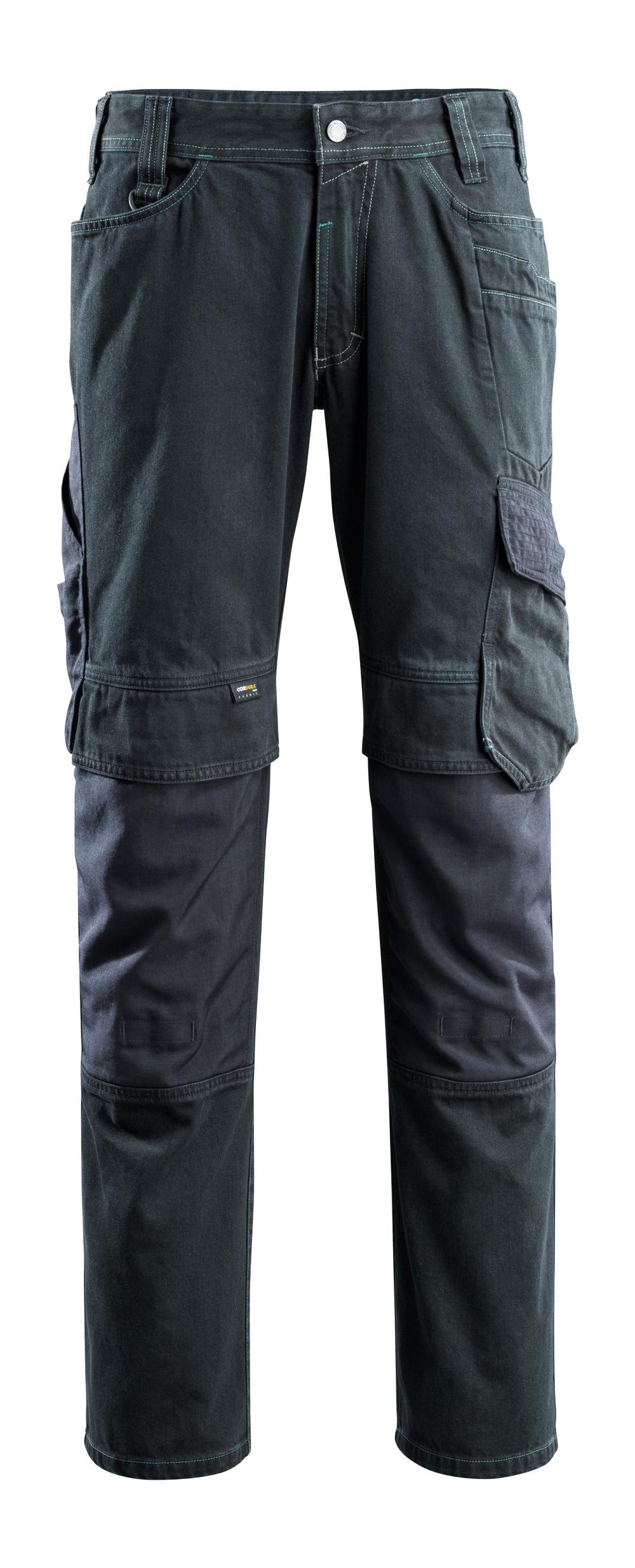 15179-207-86 Jeans with kneepad pockets - dark blue denim