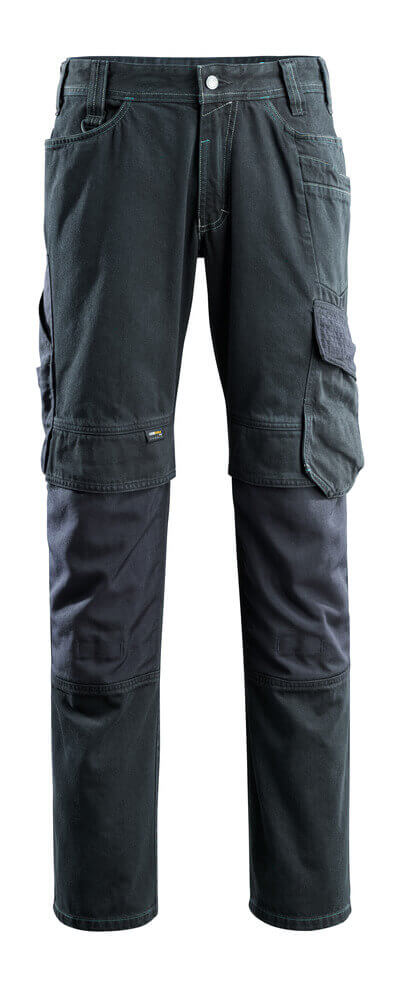 15179-207-86 Jeans with kneepad pockets - dark blue denim