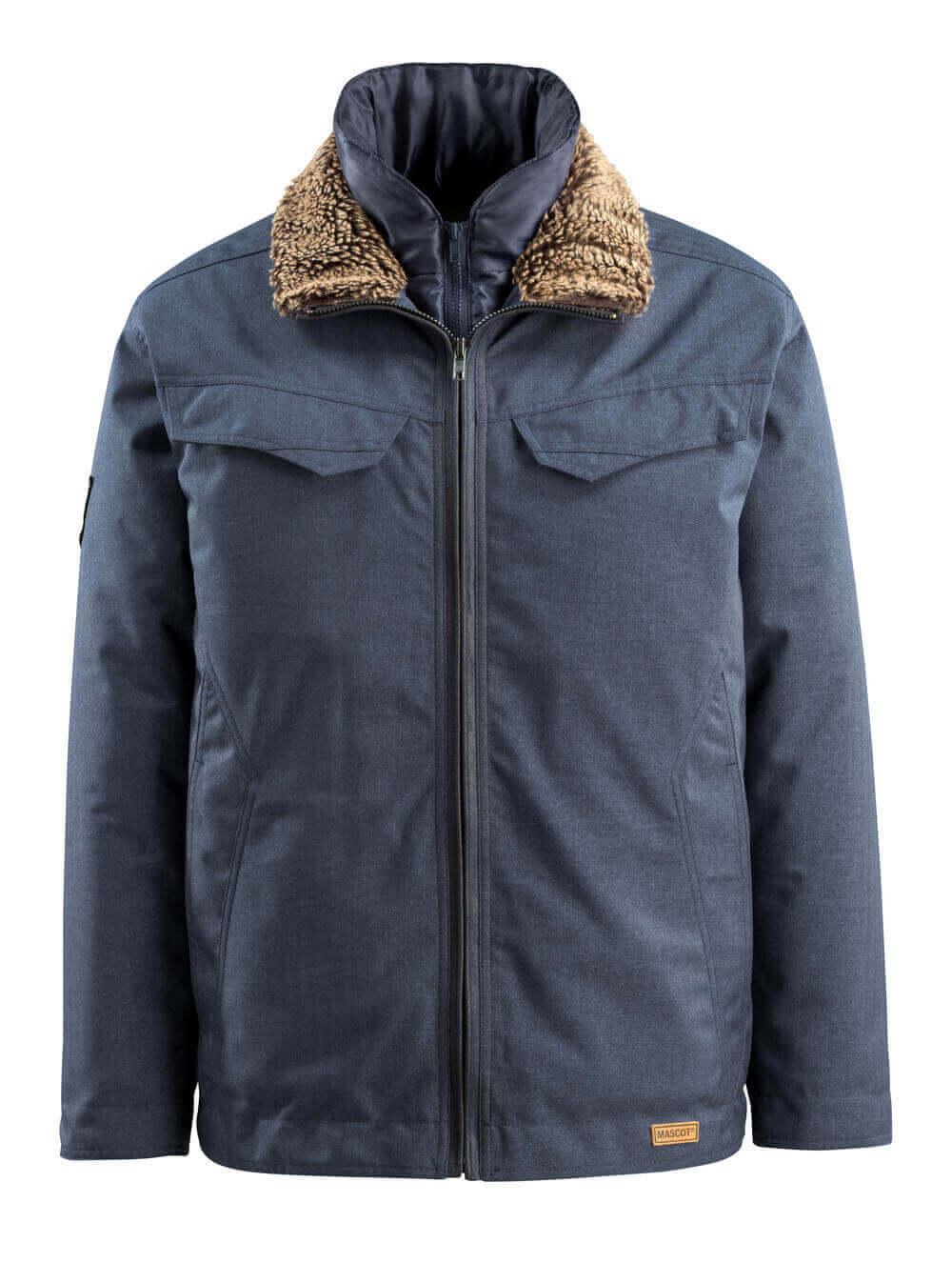 15435-275-46 Winter Jacket - indigo denim blue