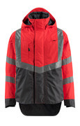 15501-231-22218 Outer Shell Jacket - hi-vis red/dark anthracite
