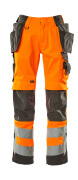 15531-860-1418 Trousers with kneepad pockets and holster pockets - hi-vis orange/dark anthracite