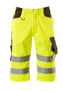 15549-860-1718 ¾ Length Trousers - hi-vis yellow/dark anthracite