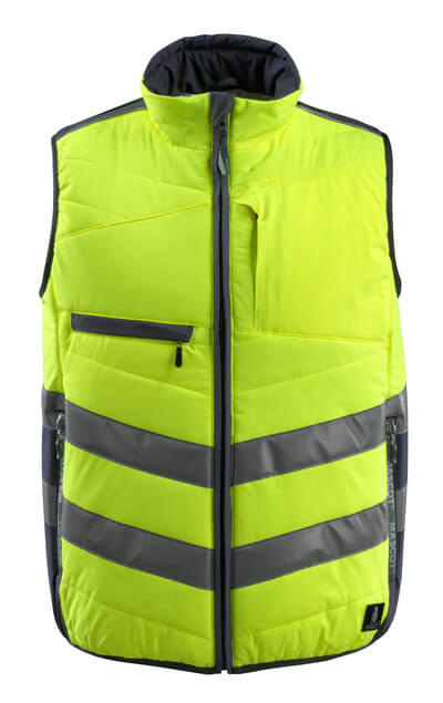 15565-249-14010 Winter Gilet - hi-vis orange/dark navy