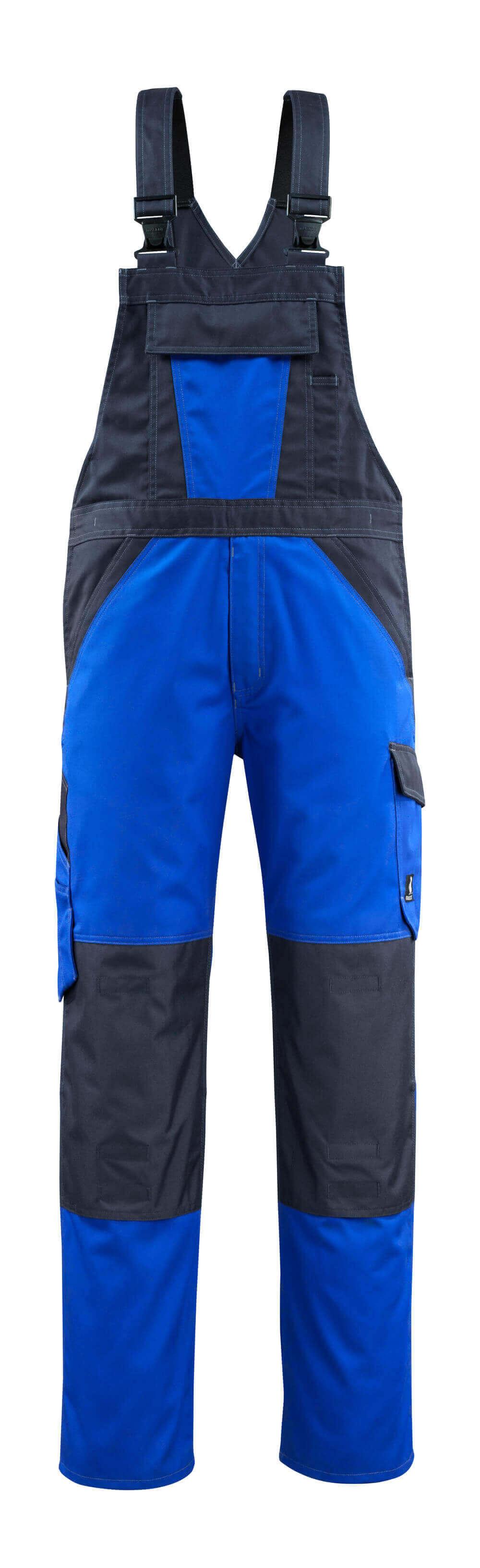 15769-330-11010 Bib & Brace with kneepad pockets - royal/dark navy