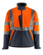 15902-253-14010 Softshell Jacket - hi-vis orange/dark navy