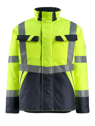 15935-126-17010 Winter Jacket - hi-vis yellow/dark navy