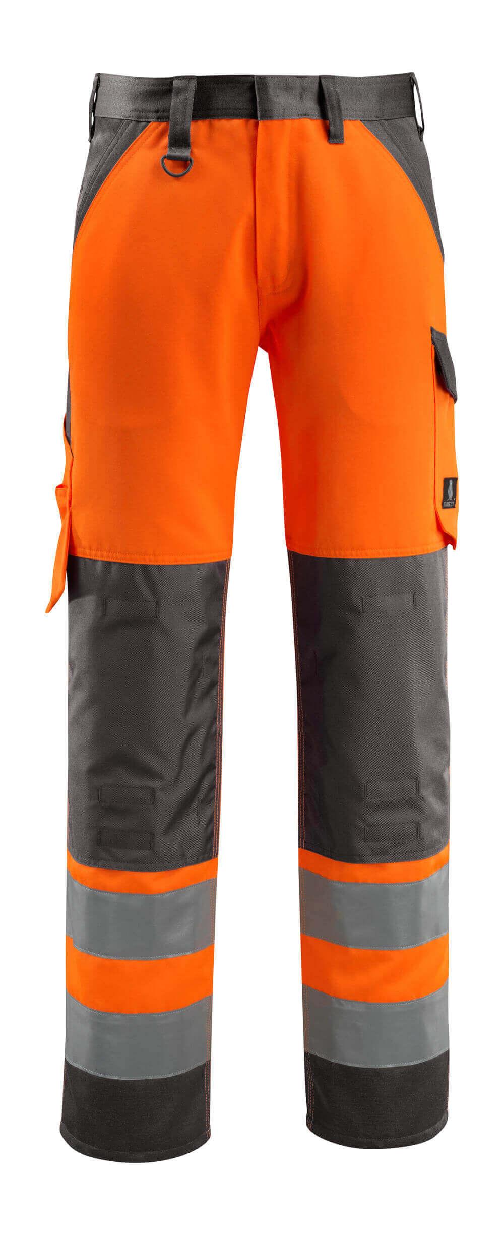 15979-948-1418 Trousers with kneepad pockets - hi-vis orange/dark anthracite