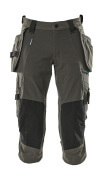 17049-311-18 ¾ Length Trousers with holster pockets - dark anthracite
