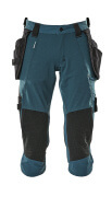 17049-311-44 ¾ Length Trousers with holster pockets - dark petroleum