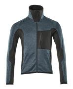 17103-316-4409 Fleece Jumper with zipper - dark petroleum/black