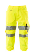 17549-860-17 ¾ Length Trousers with kneepad pockets - hi-vis yellow