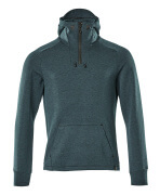 17684-319-4409 Hoodie with half zip - dark petroleum/black