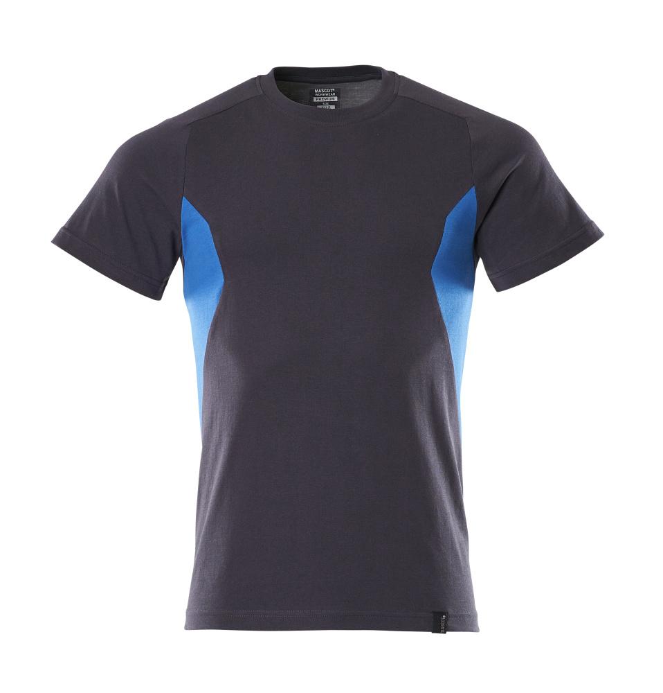 18082-250-01091 T-shirt - dark navy/azure blue