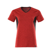 18092-801-20209 T-shirt - traffic red-flecked/black