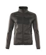 18153-316-1809 Fleece Jumper with zipper - dark anthracite/black