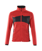 18155-951-20209 Knitted Jumper with zipper - traffic red/black