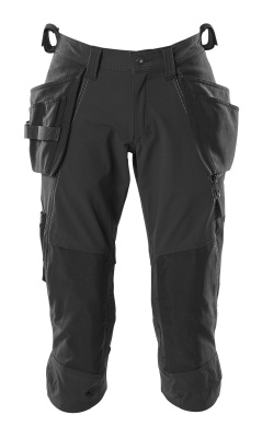 18249-311-010 ¾ Length Trousers with kneepad pockets and holster pockets - dark navy