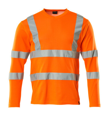 18281-995-14 T-shirt, long-sleeved - hi-vis orange