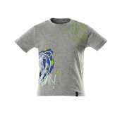 18982-965-08 T-shirt for children - grey-flecked