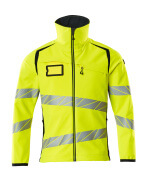 19002-143-17010 Softshell Jacket - hi-vis yellow/dark navy