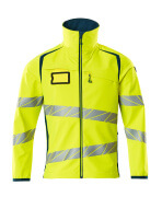 19002-143-1744 Softshell Jacket - hi-vis yellow/dark petroleum